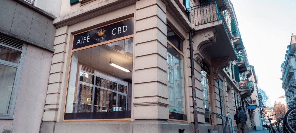 Aïfé CBD shop Lausanne, Simplon
